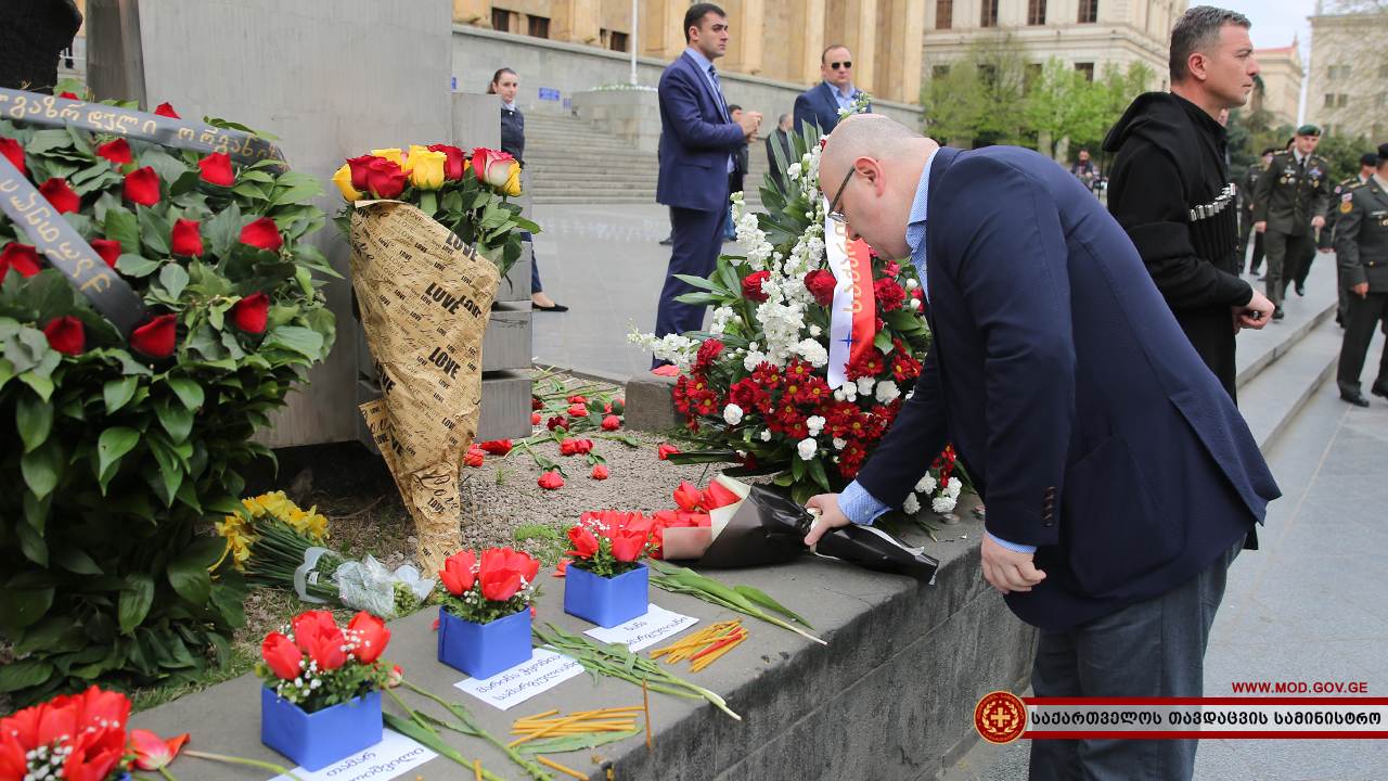 29 Years Have Passed Since The April 9 Tragedy Of 1989 Minister Defence Georgia Levan Izoria Laid Wreath On Memorial Fallen Hero Military