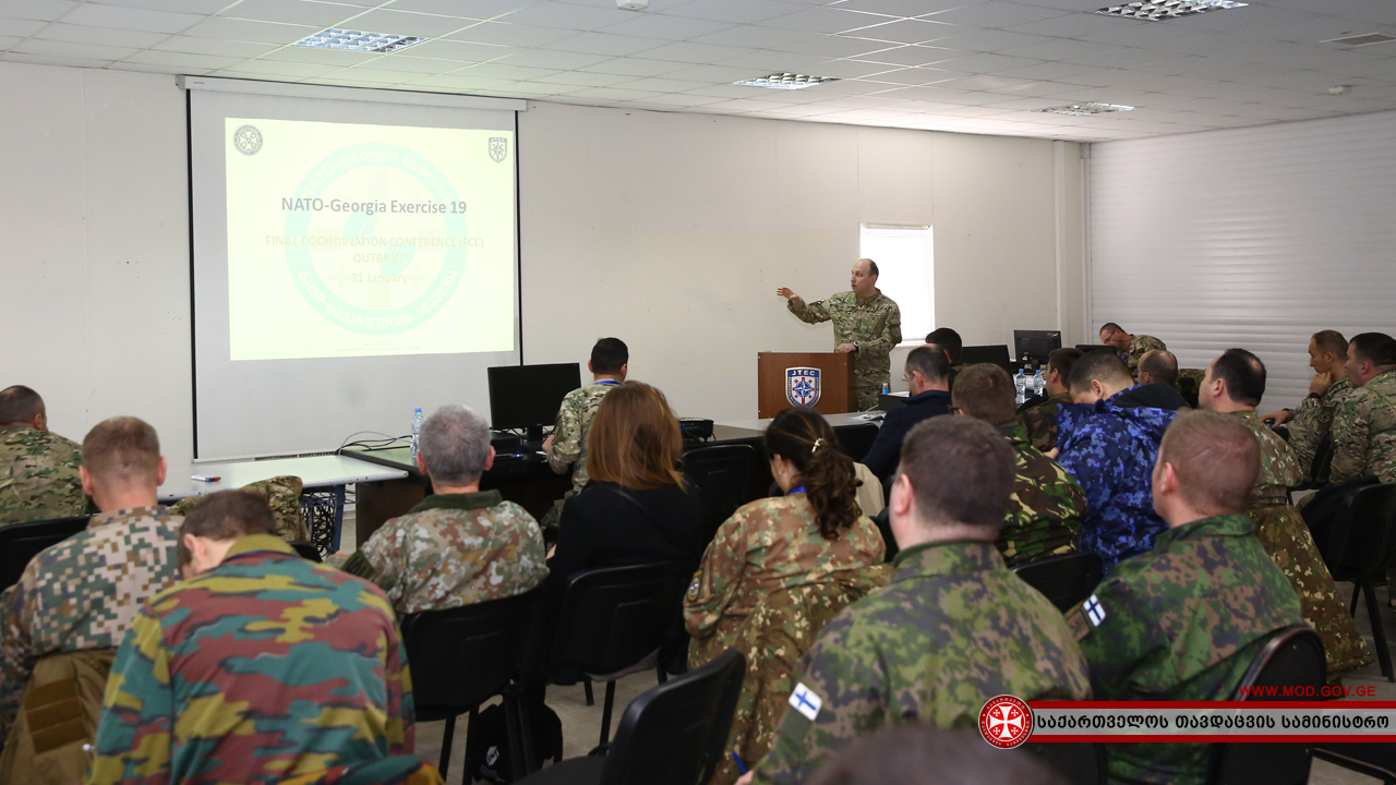 Final Planning Conference of NATO-Georgia Exercise 2019 In